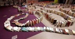 Books Falling Like Dominoes